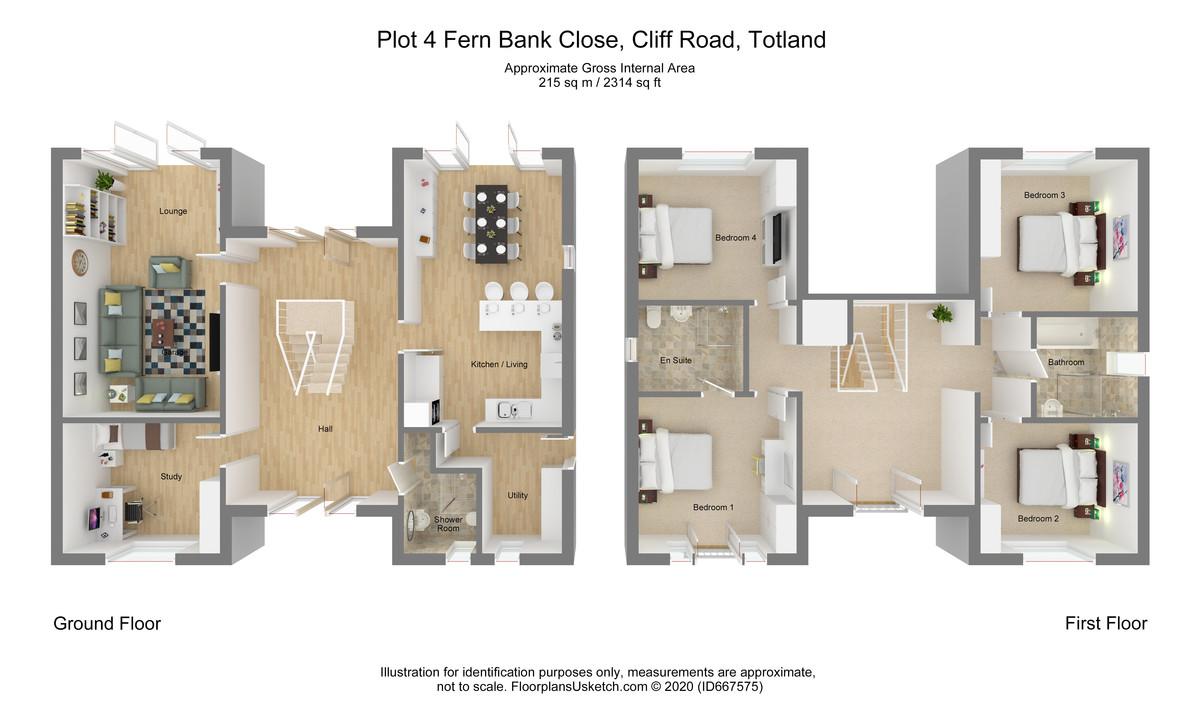 Plot 4 Fern Bank Close, Totland Bay